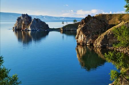 俄罗斯贝加尔湖4k风景高端电脑桌面壁纸