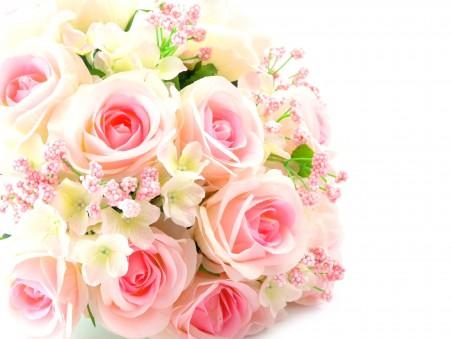 粉红色玫瑰,鲜花,花束,高清图片