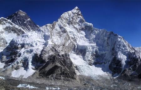 珠穆朗玛峰风景摄影高清大图片