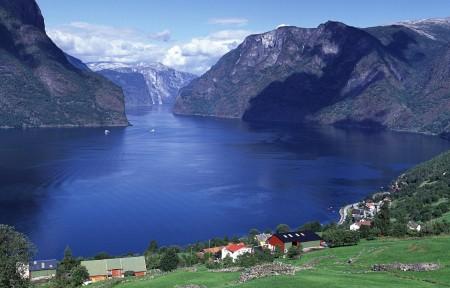 美丽的自然风光挪威全景图片