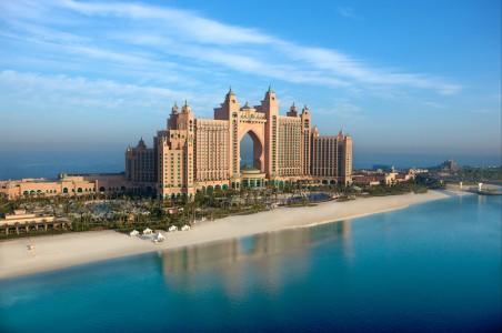 阿联酋城市酒店风光4k高清图片