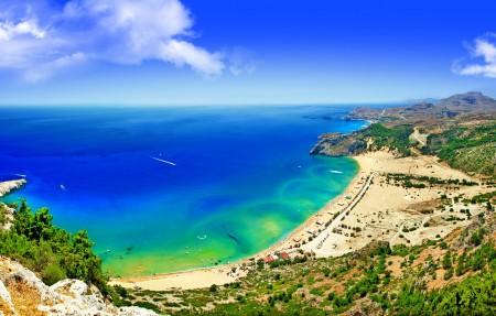 蓝色海岸,海水,沙滩,天空,美丽的风景高清图片