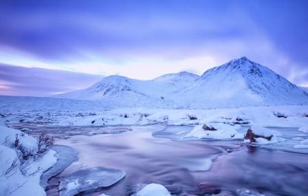 苏格兰高原冬季风景4k高端电脑桌面壁纸