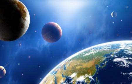 宇宙 地球表面 月亮 5k图片