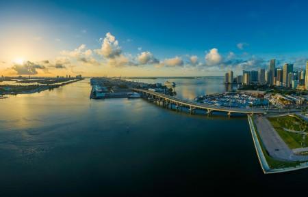迈阿密佛罗里达州全景图8k风景图片