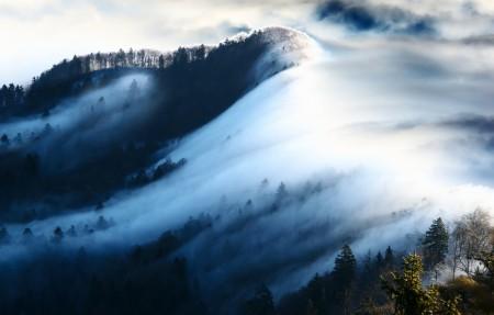 山顶雾风光图片