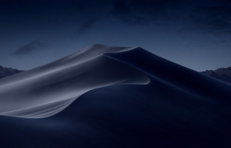 苹果macOS Mojave 莫哈韦沙漠风景5k高端电脑桌面壁纸 夜间晚上