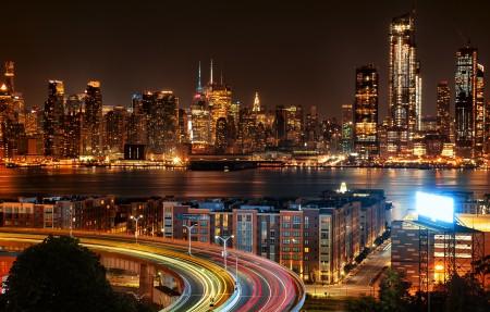 纽约城市夜景4k高端电脑桌面壁纸