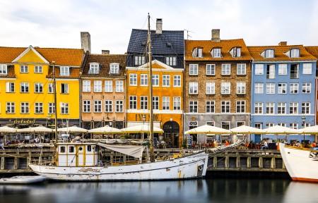 哥本哈根 新的港口3440x1440风景超高清壁纸精选
