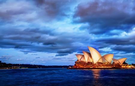 悉尼日落风景3440x1440高端电脑桌面壁纸