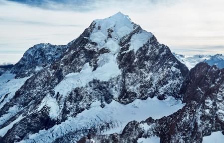 新西兰库克山的顶峰3440x1440高端电脑桌面壁纸