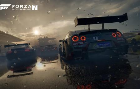 《极限竞速7(Forza Motorsport 7)》雨天炫酷跑车4k高清壁纸极品游戏桌面精选