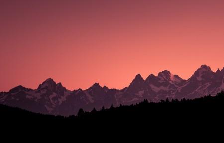 大提顿国家公园的日落3440x1440风景高端电脑桌面壁纸