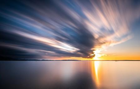 日落 自然 德国海边风景4k高端电脑桌面壁纸