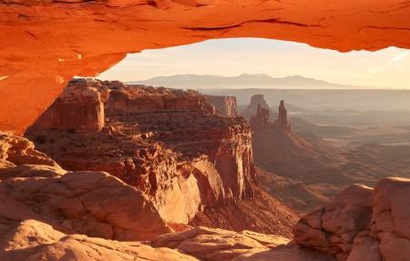 梅萨拱门 峡谷地 美国犹他州4K风景高端电脑桌面壁纸
