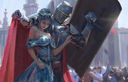 鬼刀骑士保护公主 警卫 海琴烟冰公主3440x1440超高清壁纸精选