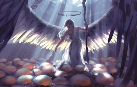 天使 诞生 初生 鬼刀3440x1440高清高端电脑桌面壁纸