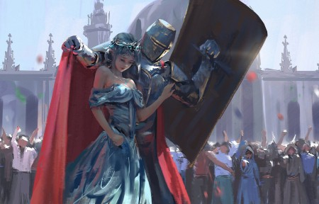 警卫 海琴烟冰公主 鬼刀骑士保护公主4K超高清壁纸推荐