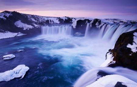 冰岛Godafoss瀑布4k风景高端电脑桌面壁纸