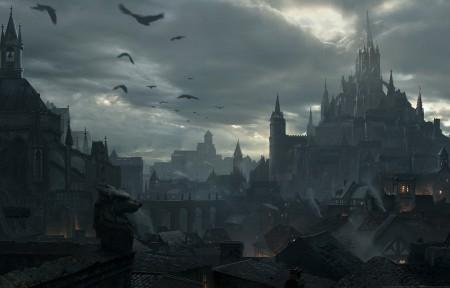 《暗黑破坏神:不朽》游戏原画风景3440x1440高端电脑桌面壁纸
