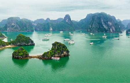 桂林山水风景图片3840x1080高端电脑桌面壁纸