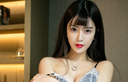 赵智妍 长发靓丽美女模特4k高端电脑桌面壁纸