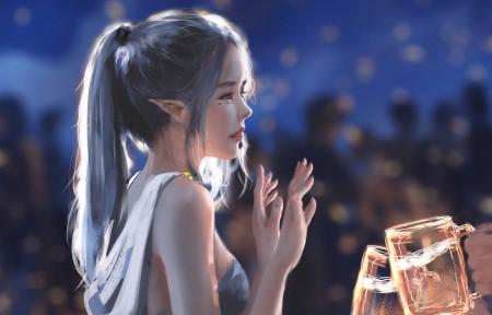 舞会 冰公主海琴烟 鬼刀4k高清壁纸极品游戏桌面精选