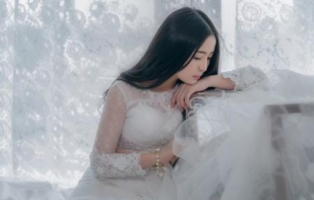 新娘美女白色蕾丝礼服4k超高清壁纸精选