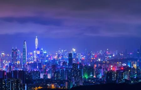 深圳城市夜景4k高端电脑桌面壁纸