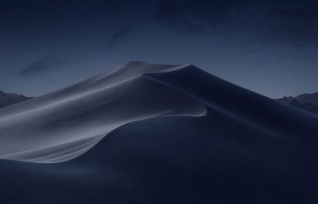苹果自带macos mojove Mojave Night 莫哈韦沙漠晚上风景5K高端电脑桌面壁纸