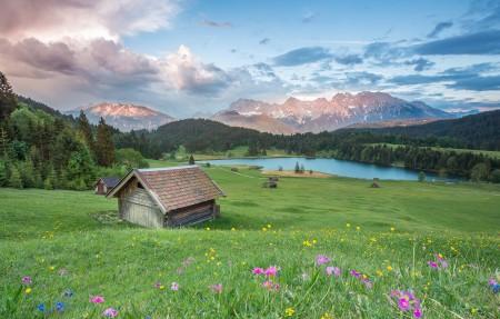 阿尔卑斯山风景4k高清高端电脑桌面壁纸3840x2160