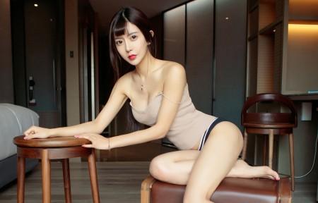尤果网美女赵智妍3440x1440带鱼屏高端电脑桌面壁纸