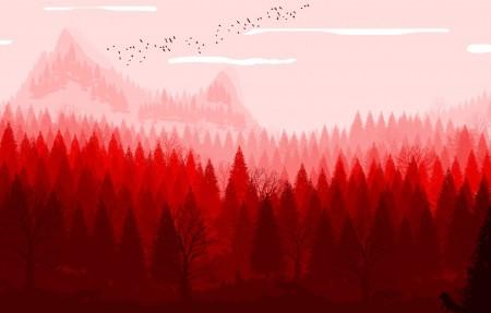 红色的自然风景4k超高清壁纸精选