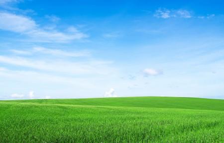 清新蓝天白云绿草地4k风景高端电脑桌面壁纸3840x2160