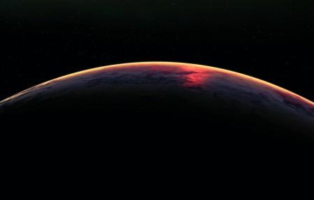地球 大气 空间 星星 宇宙4k高端电脑桌面壁纸4096x2160