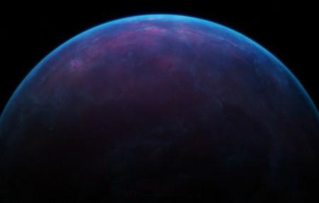 蓝色星球 星空4k高端电脑桌面壁纸
