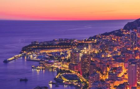 摩纳哥城市夜景4k超高清壁纸精选3840x2160