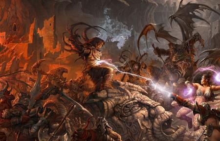 地下城 怪兽 人物大全5k游戏超高清壁纸推荐5760x1080