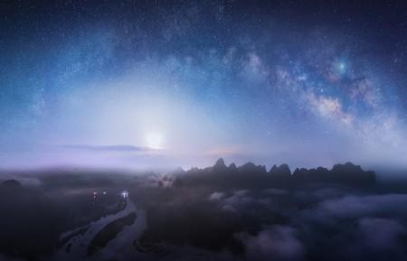 桂林山水星空夜晚风景4k超高清壁纸精选