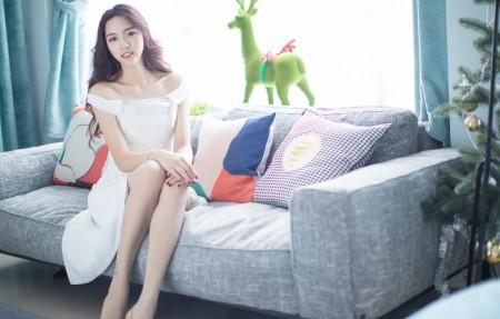 IMiss爱蜜社嫣儿 居家沙发养眼身材美腿美女4k高清壁纸极品游戏桌面精选3840x2160