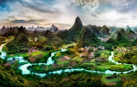 广西桂林山水高清风景4K高端电脑桌面壁纸