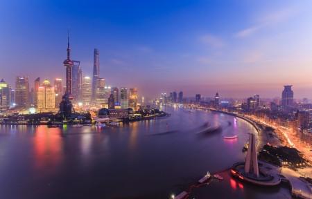 上海外滩陆家嘴夜景风光4k超高清壁纸精选