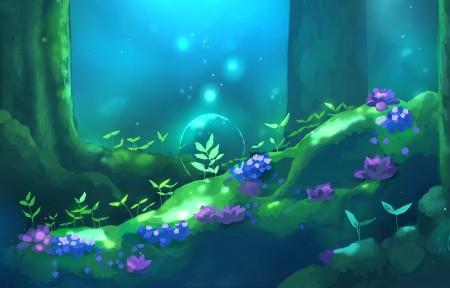 水下森林4k动漫高清壁纸极品游戏桌面精选