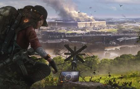 全境封锁2游戏原画3440x1440超高清壁纸推荐