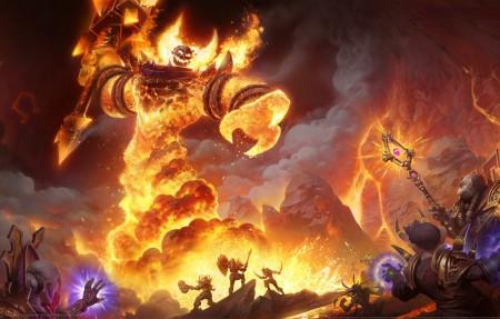 魔兽世界 火焰领主拉格纳罗斯4k游戏高清壁纸极品游戏桌面精选