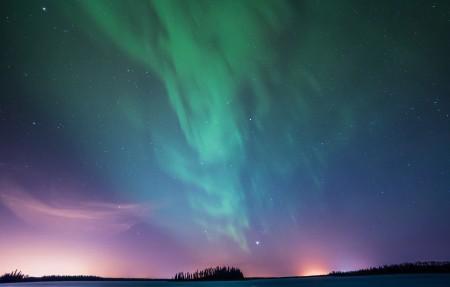 北极光星空夜景4k风景壁纸3840x2160