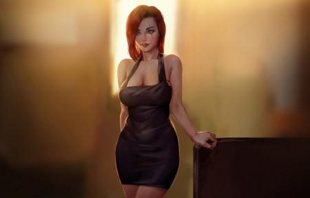游戏角色 性感身材美女人物4k游戏壁纸