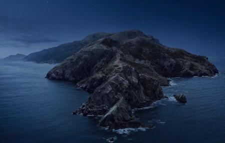苹果mac os catalina 夜晚风景4k壁纸