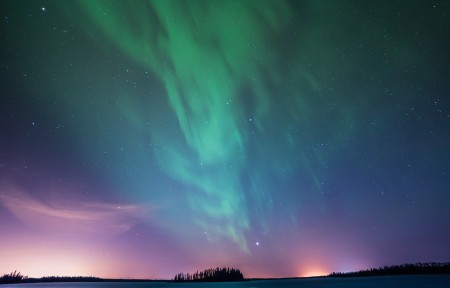 北极光星空5k风景壁纸5120x2880