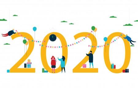 新年快乐2020鼠年个性创意4k壁纸极品壁纸推荐3840x2160